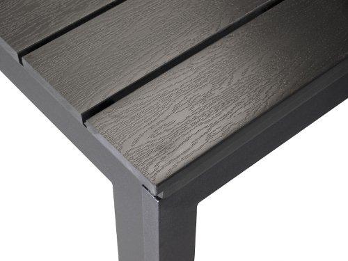 XXL-Aluminium-Gartentisch-ausziehbar-280220x95cm-Ausziehtisch-Esszimmertisch-Esstisch-Kchentisch-Alutisch-Aluminiumtisch-mit-schwarzer-Polywood-Non-Wood-Tischplatte-0-1