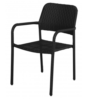 juoda pinta ratanu kėdė